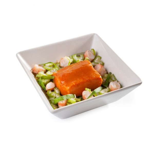 Chaud froid de saumon au homard