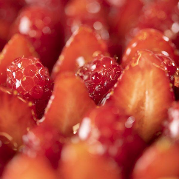 Charlotte fruits rouges et fleur d'oranger